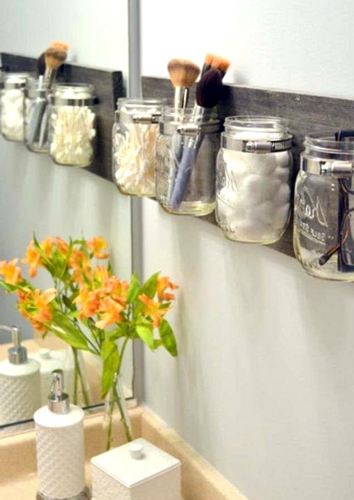 craft a mason jar diy organizer for your bathroom