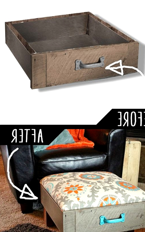 trasform a simple drawer into an epic ottoman