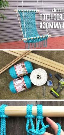 learn how to make a crocheted macrame hammock