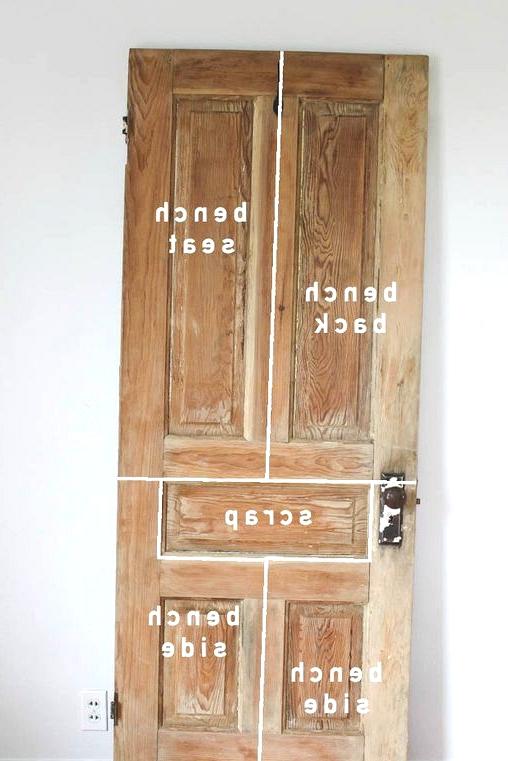 old door new bench
