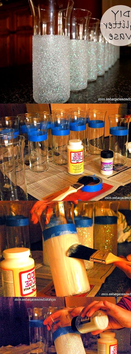 wedding design ideas diy glitter vase