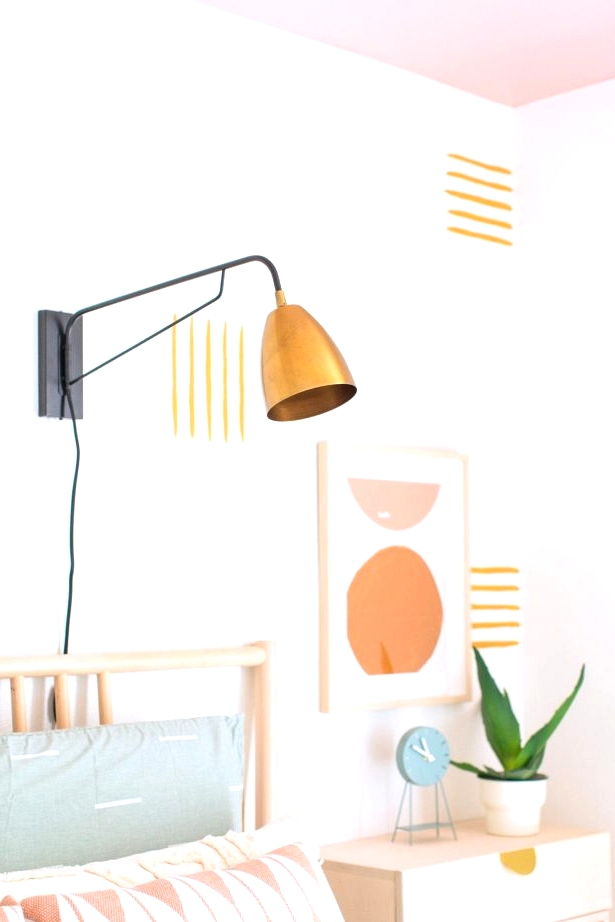 Do it yourself fun and bright accent wall