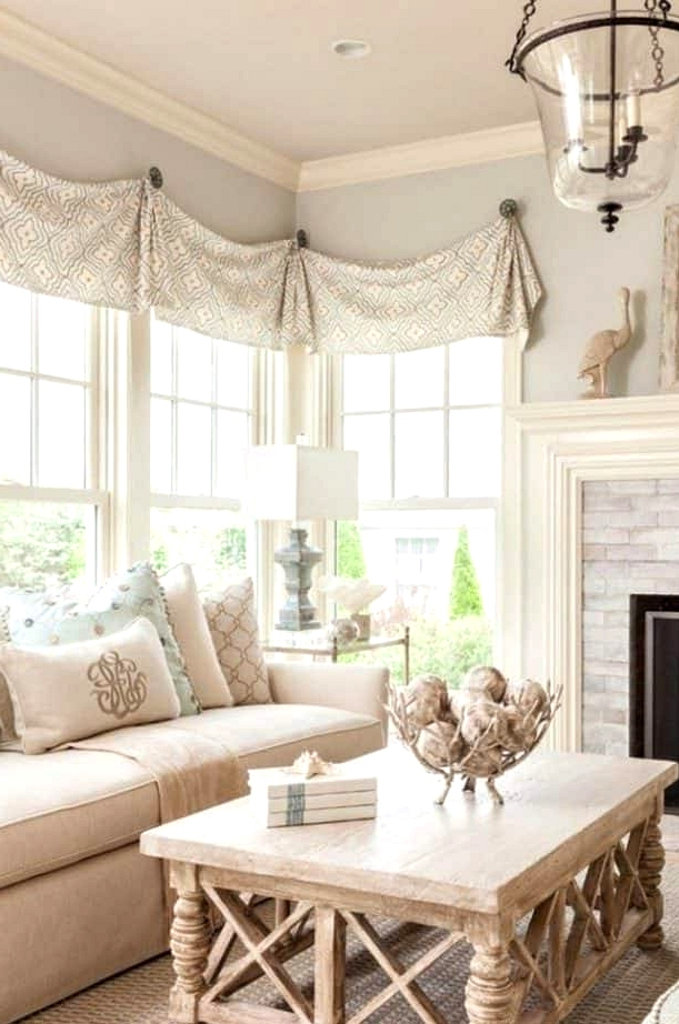 Fabric Valances for a Traditional Look