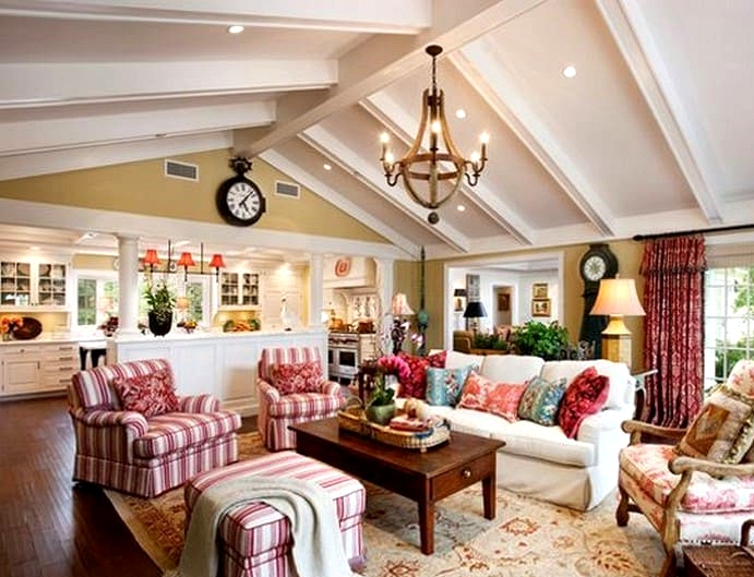 A Festive French Country Living Room