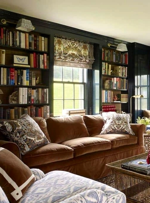 A Bookworms' French Country Living Room