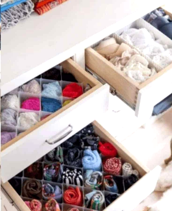 Look for Drawer Dividers to Organize Dressers