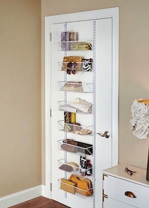 Install a Storage Rack on the Back of the Door