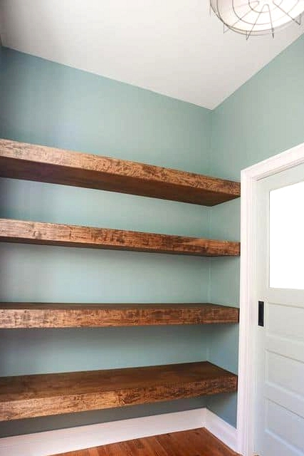Install Floating Shelves in an Alcove or Nook