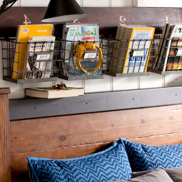 Hang Some Wire Baskets for Farmhouse Organization