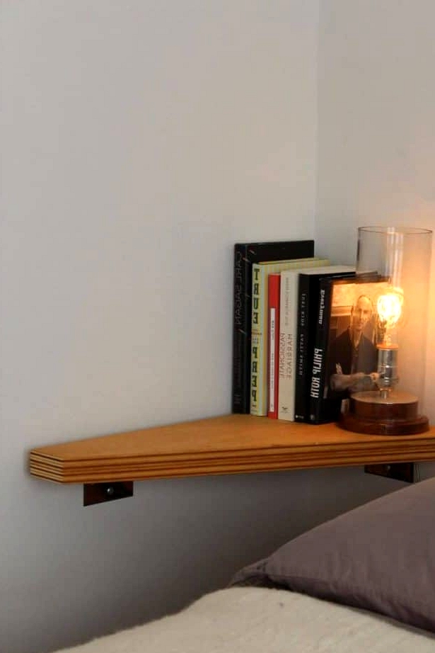 Put Up a Tiny Shelf by the Bed