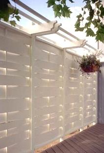 Get Lovely Interwoven White Planks