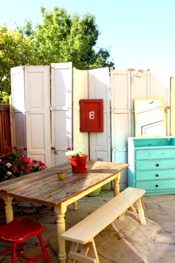 Set Up Repurposed Doors for an Eclectic Look