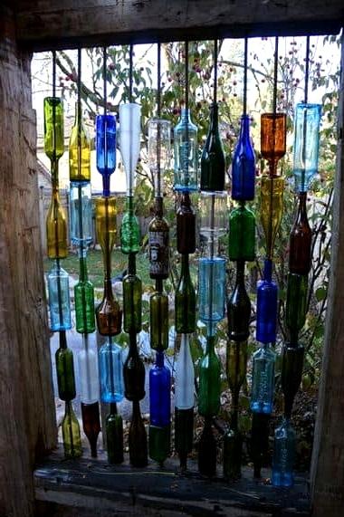 Use Wine Bottles for a Splash of Color