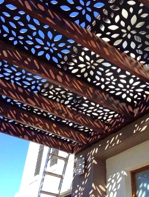 Laser Cut Porch Roof for a Designer Look
