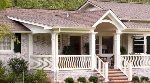 Flat Porch Roof for a Ranch Home