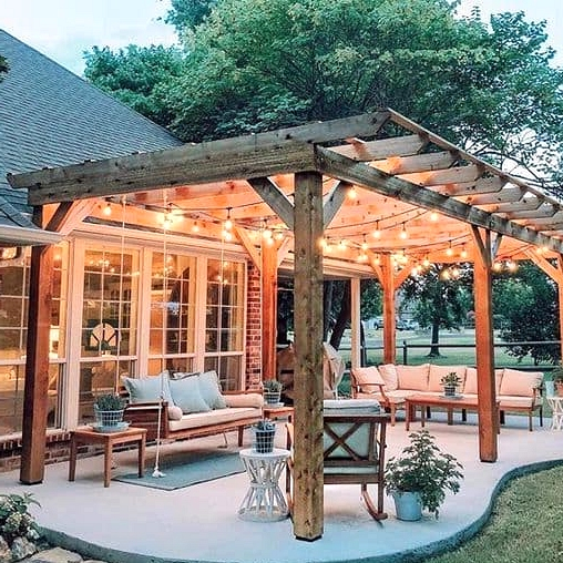 A Porch Roof That's Just a Frame