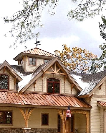 Copper Porch Roof for a Stylish Look