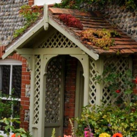 A Green Porch Roof