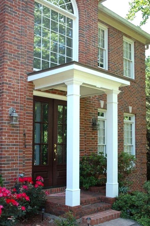 Twin Pillar Porch Roof