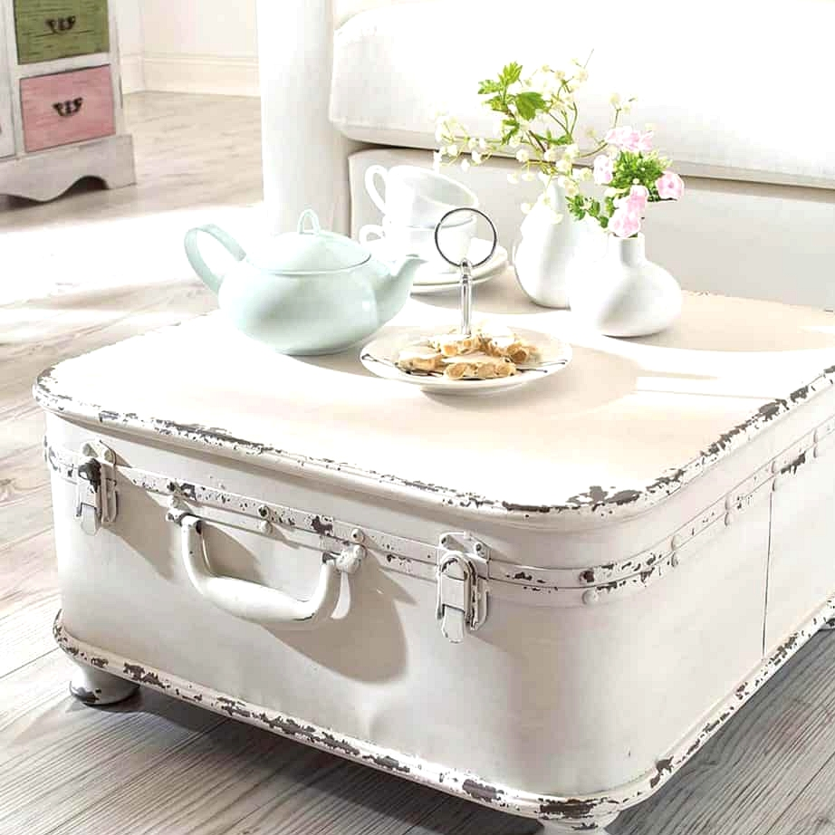 A Rickety Trunk as a Coffee Table