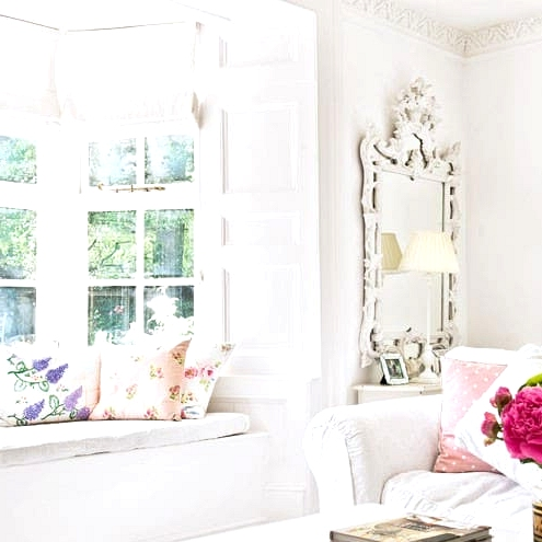 A Windows Seat in a Shabby Chic Living Room