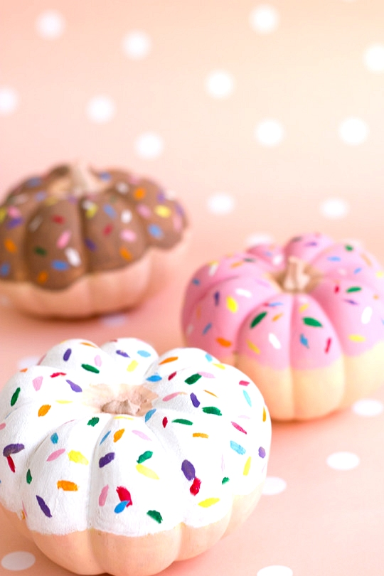 DIY donut painted pumpkin