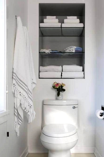 Maximize Space With Recessed Shelves