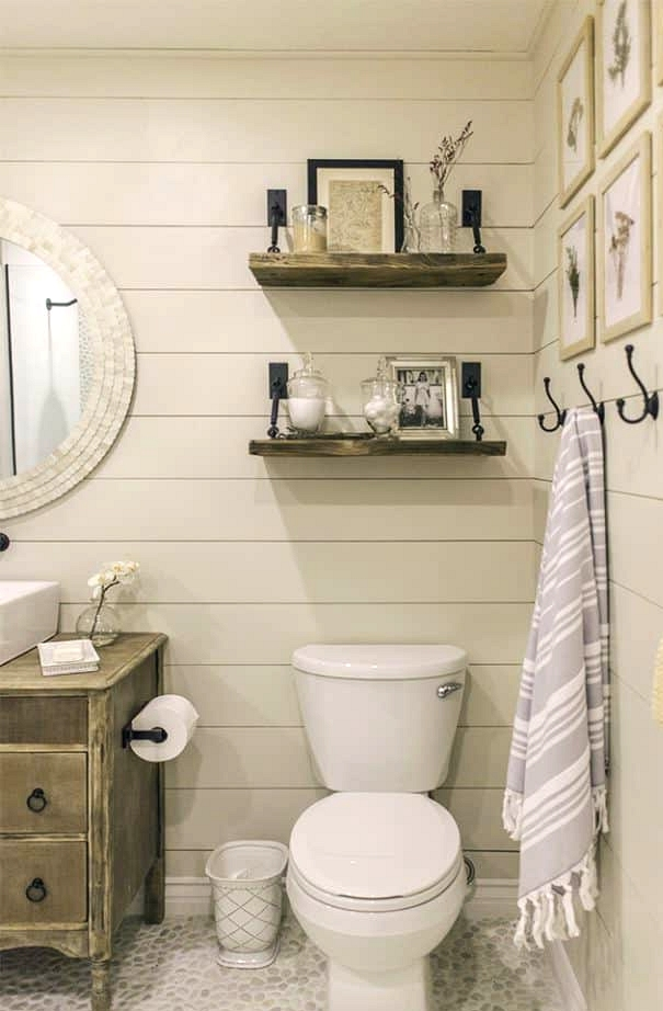 Channel the Farmhouse Style With Rustic Shelves