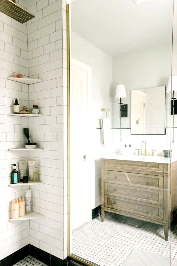 Add Small Corner Shelves to the Shower