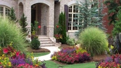 27 Easy But Stunning Entrance Yard Landscaping Concepts