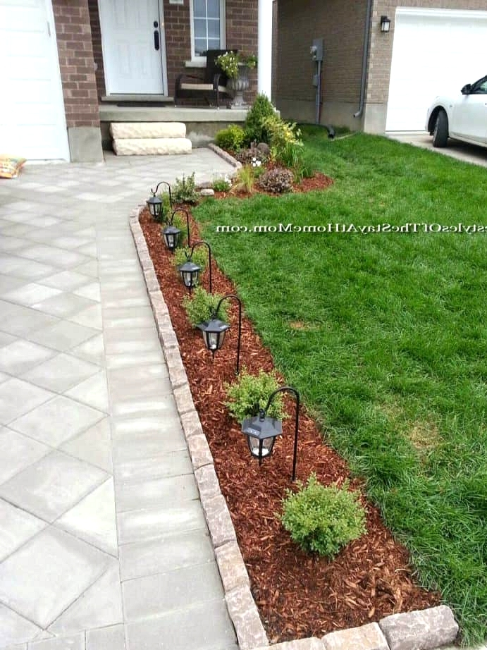 Install a Row of Small Walkway Lamps