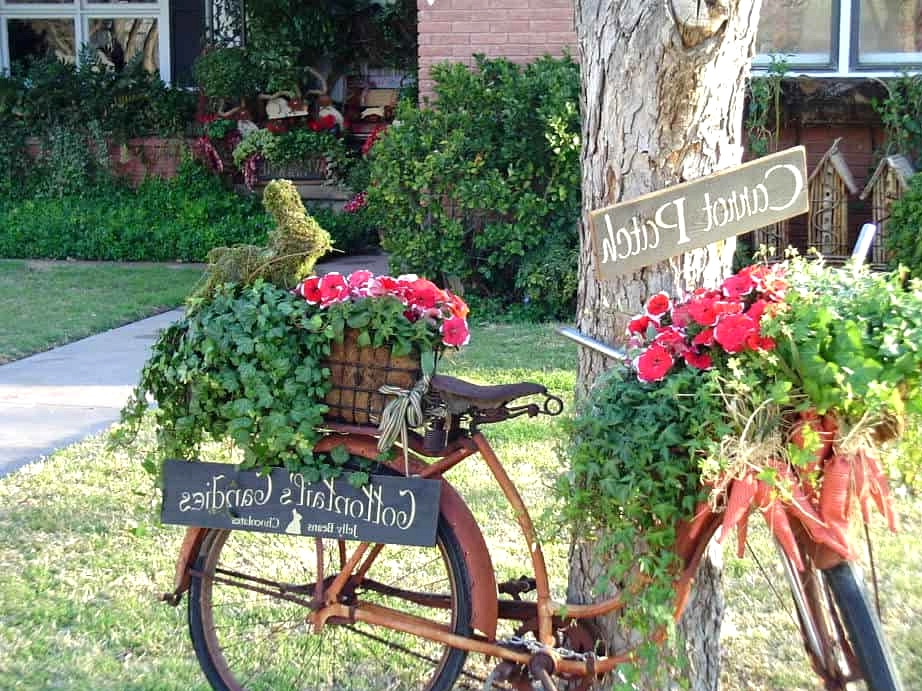 Make Your Own Cute Bicycle Planter