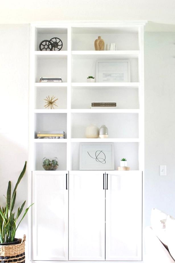 Simple IKEA built in storage hack