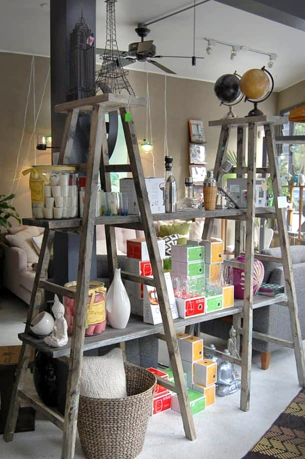 Use Two Ladders and Boards for a Bookcase
