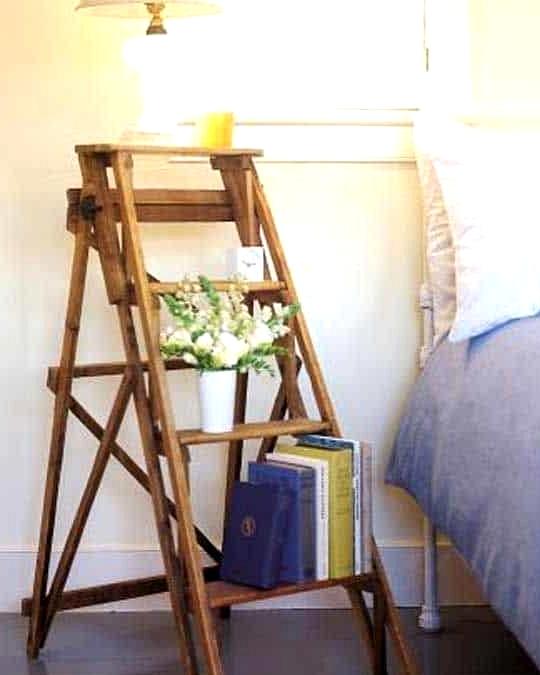 Find a Short Ladder for a Bedside Table