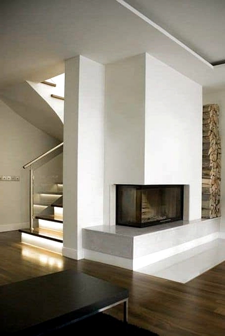 Minimalist Fireplace in the Living Room