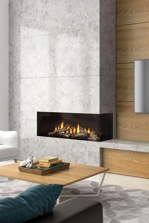 Modern and Minimalist Fireplace