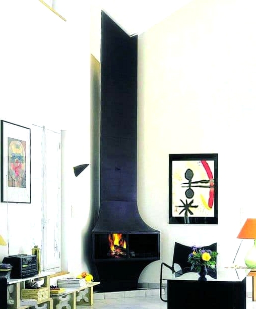 Classic Metal Fireplace with a Twist