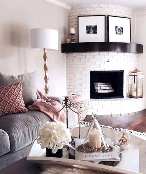 Circular Corner Fireplace