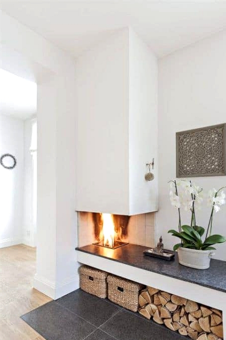 A Fireplace That's Also a Kitchen