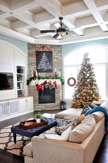 The Perfect Christmas with a Corner Fireplace