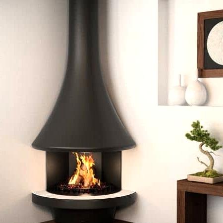 A Stylish and Minimalist Circular Fireplace