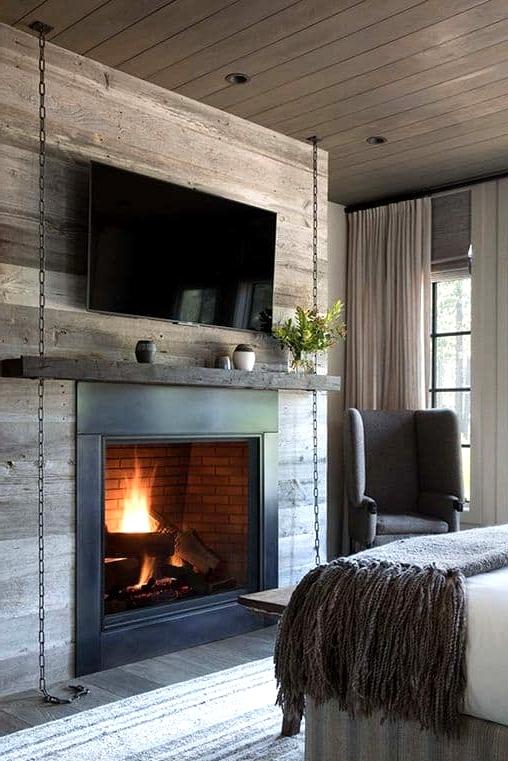 A Bedroom Corner Fireplace