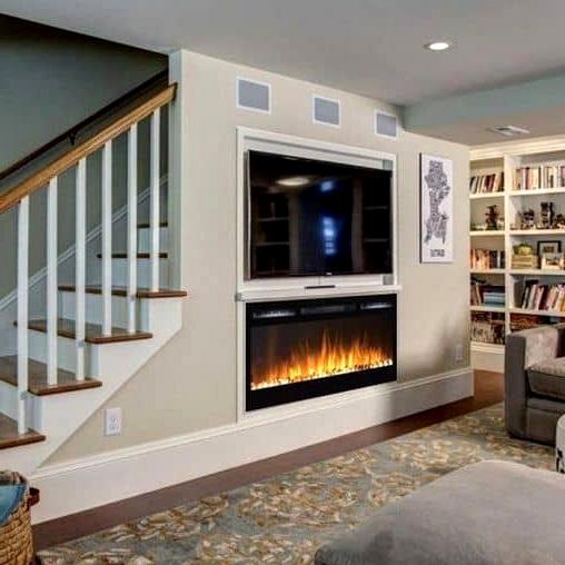 Basement Corner Fireplace