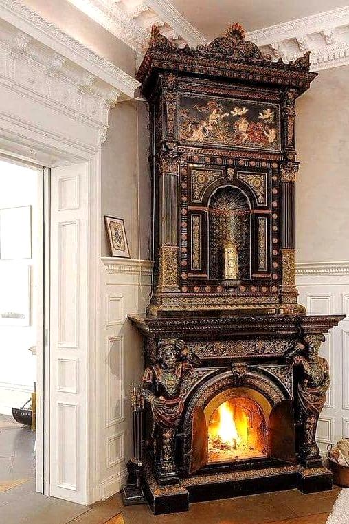Gothic Corner Fireplace