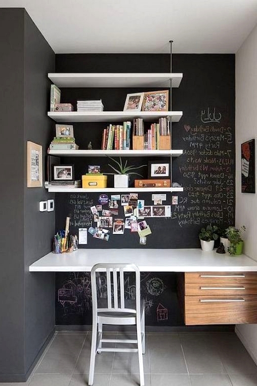 Black Chalk Board Paint home office