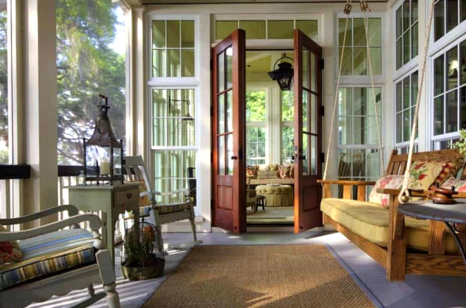 Get French Doors to Connect the Home to the Porch