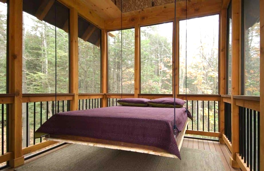Add a Hanging Bed for the Perfect Napping Spot