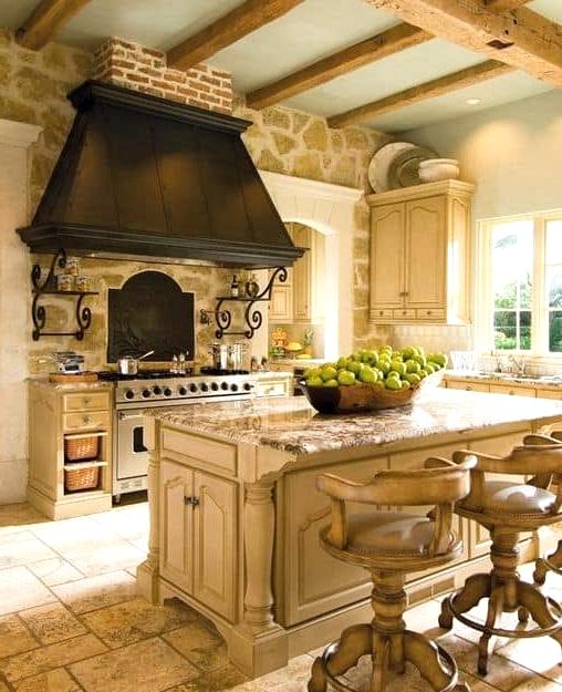The Luxurious Barnwood Kitchen Island