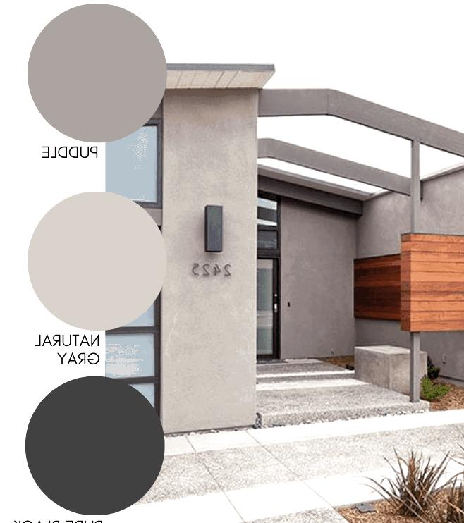 Modern concrete home exterior color scheme